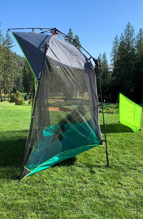 QUICK-UP Golf Range: QU-54-Deluxe-Size-Side-View